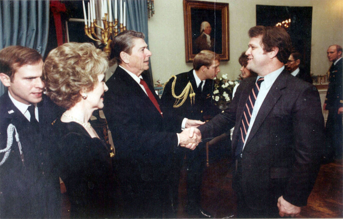 Donald A. Bailey with Ronald and Nancy Reagan
