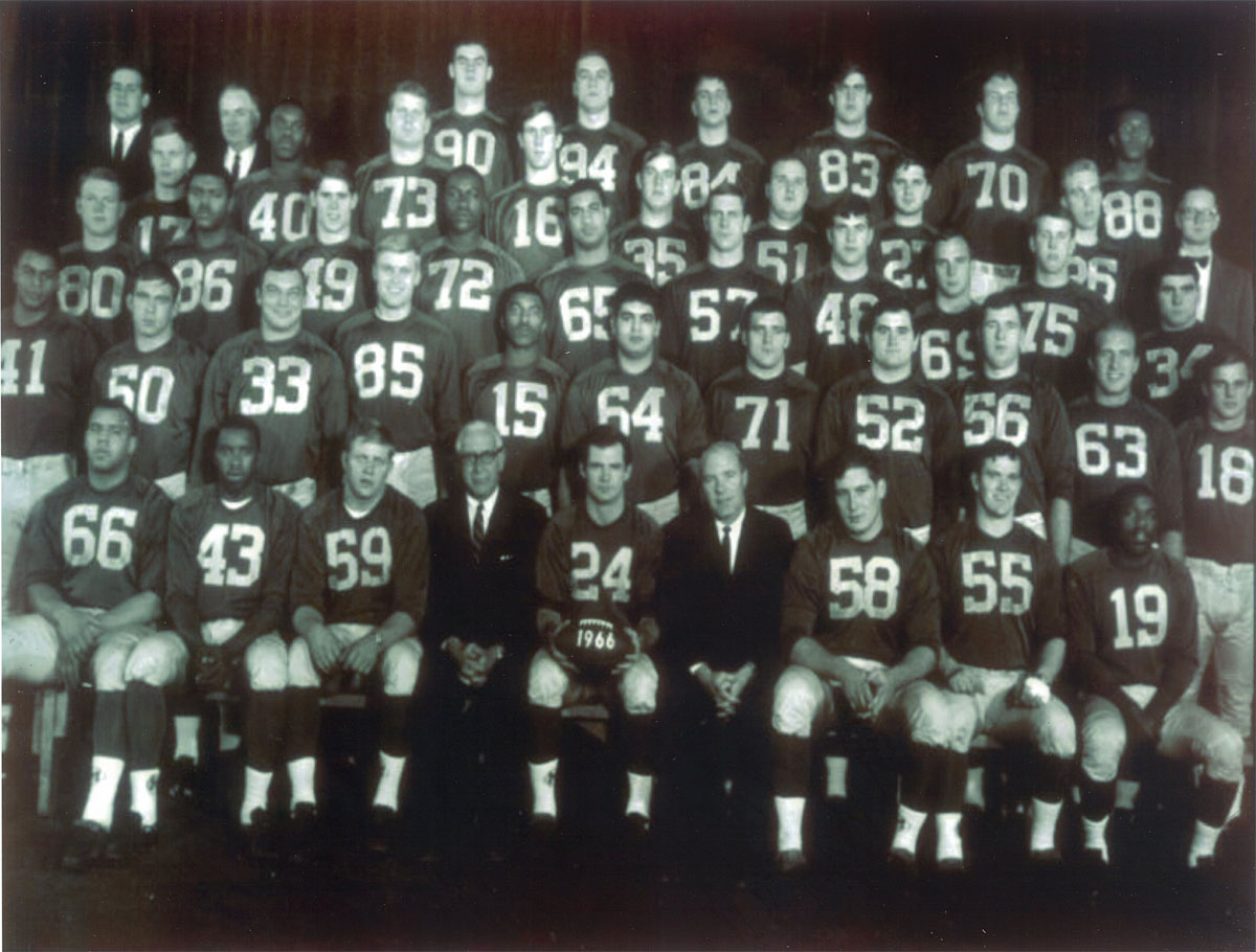 1965 Rose Bowl Championship Team with Donald A Bailey, #55
